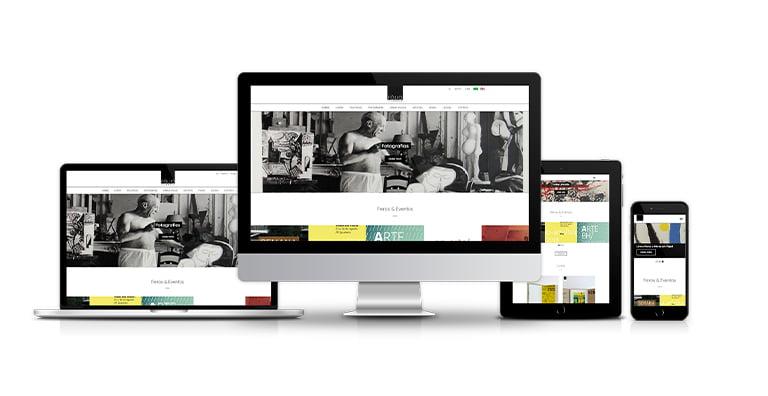 site institucional da galeria e livraria Fólio