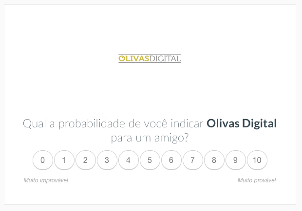 Pesquisa NPS da Olivas Digital